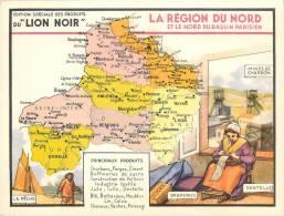 CHROMO LE LION NOIR  REGION FRANCAISE  LA REGION NORD - Chromos