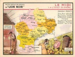 CHROMO LE LION NOIR  REGION FRANCAISE    LE MIDI - Chromos