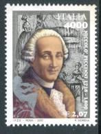 ITALIA / ITALY 2000** - Compositore E Musicista Italiano - Niccolo' Piccinni - 1 Val. MNH  (alto Valore) Come Da Scan - Musica
