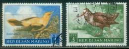 San Marino  1960  Vögel  (2 Gest. (used))  Mi: 635, 637 (0,40 EUR) - Gebraucht