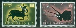 San Marino  1970  Tierkreiszeichen  (2 ** (MNH))  Mi: 942-43 (0,20 EUR) - Ungebraucht