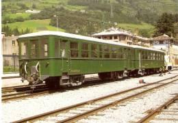 Nº640 POSTAL DE ESPAÑA DE UN COCHE DE VIAJEROS Nº1 Y 5 AZPEITIA (TREN-TRAIN-ZUG) AMICS DEL FERROCARRIL - Trenes