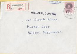 Nederland - Aangetekend/Recommandé Brief Vertrek Moordrecht - Aantekenstrookje Moordrecht 274 - Poststempel
