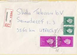 Nederland - Aangetekend/Recommandé Brief Vertrek Lekkerkerk - Aantekenstrookje Lekkerkerk 1394 - Poststempel