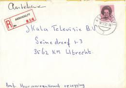Nederland - Aangetekend/Recommandé Brief Vertrek Asendelft - Aantekenstrookje Assendelft 856 - Poststempel