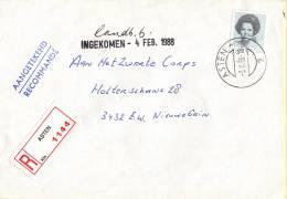 Nederland - Aangetekend/Recommandé Brief Vertrek Asten - Aantekenstrookje Asten 1144 - Poststempel