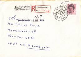 Nederland - Aangetekend/Recommandé Brief Vertrek Barendrecht - Aantekenstrookje Barendrecht 712 - Poststempel