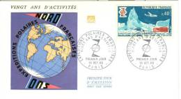TAFF ENV FDC 1968 20 ANS D'ACTIVITES - FDC