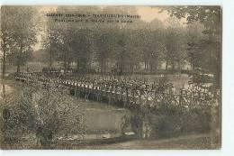MATOUGUES : Guerre 1914-1918, Pont Jeté Sur La Marne Par Le Génie. 2 Scans. Edition Brunel - France