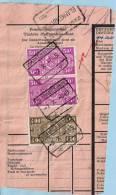 Spoorwegfragment, Afst. BLANKENBERGE 02/10/1945 + Stempel GEWICHT BEVONDEN TE BLANKENBERGE - 1942-1951