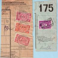 2 Spoorwegfragmenten, Afst. ZEEBRUGGE AAUW IND N. 22/12/1938 + ZEEBRUGGE CENTER 12/12/1942 - 1923-1941