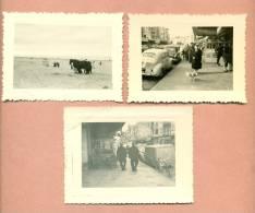 1 LOT DE 3 PHOTOGRAPHIES - PHOTO - BELGIQUE - DE PANNE / LA PANNE - 1956 - Plaatsen