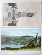 Lot 2x Nationaldenkmal Auf Dem Niederwald HILSDORF 1x Voyagé 1909 Timbre Cachet Flamme 31 Mai 1909 - Nidderau