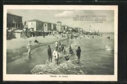 Cartolina Viserba, La Spiaggia - Autres Villes