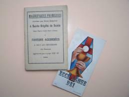 SAINTE-BRIGITTE De SUEDE LIVRE RELIGIEUX Avec MARQUE-PAGE LIBRAIRIE LAFOLYE & J. DE LAMARZELLE à VANNES MORBIHAN - Bookmarks