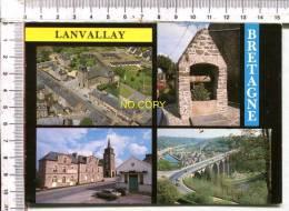 LANVALLAY -  4 Vues   :  Vue Générale  -  L'Eglise - Le Vieux Puits - Et Le Viaduc Sur La Rance - Francia