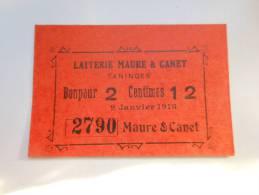Haute-Savoie 74 Taninges Laiterie Maure Et Canet , 1ère Guerre Mondiale 2 1/2 Centimes R2 ! + QUALITE ! - Bonos