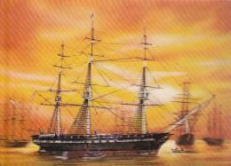 CPSM 3 D RELIEF BATEAU 3 MATS VOILIER USS CONSTITUTION PK 320 - Veleros