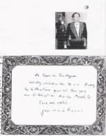 JEAN MARIE ROUART (NEUILLY SUR SEINE 1943 ..) ROMANCIER ESSAYISTE CHRONIQUEUR (ACADEMIE FRANCAISE) CARTON  AUTOGRAPHE - Autographes