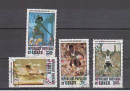 Congo YT PA 269/72 Obl : Moscou , Saut En Longueur - 1980 - Summer 1980: Moscow