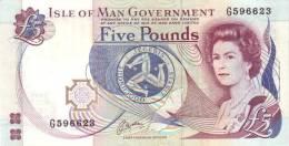 ISLE OF MAN 5 POUNDS  P 41b UNC - 5 Pounds