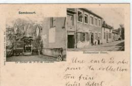 57 SEMECOURT -- E. GREGOIRE --  Le ROcher De N. D De Lourdes --  Restauration Grusse - Autres Communes