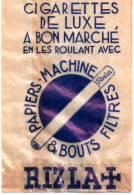 """Sachet Publicitaire """"cigarettes De Luxe à Bon Marché En Les Roulant Avec RIZLA"""" - Tobacco (related)"""