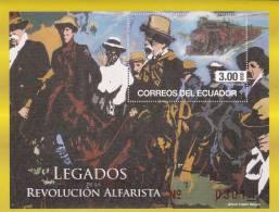 Ecuador 2012 Postfris MNH Alfarista Revolution, Train - Ecuador