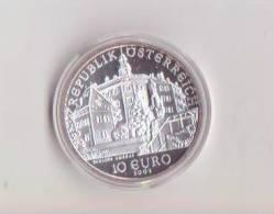 Austria-Autriche-Osterraich-2002-10 Euro Argento F.S. Proof-Castello-Schloss Ambras-Unificato E.95 - Autriche