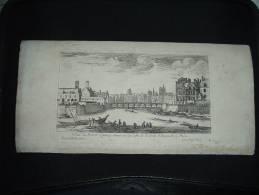 BELLE GRAVURE XVIIe XVIIIe ISRAEL VUE DU PONT SAINT LANDRY PORTE SAINT BERNARD PARIS - Gravures