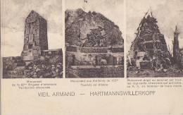 Militaria - Guerre 14-18 - Vieil Armand 68 - 3 Monuments Aux Morts - Weltkrieg 1914-18