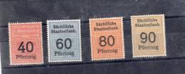 EISENBAHNMARKEN Ca.1890 4 WERTE DER SÄCHSISCHEN EISENBAHN(786-1 - Eisenbahnen