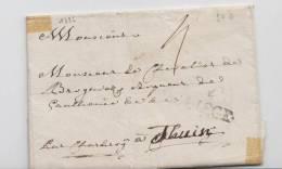 PRECURSEUR 1786 POUR LE CHEVALIER DE BRUGENOS ?  ..... + GRIFFE NOIR ' DE LIEGE ' VERS THUIN + TEXTE A VOIR - 1790-1794 (Austr. Revol. & Fr. Invas.)