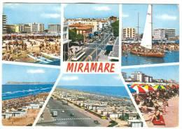 Italy, Miramare, Multi View, 1973 Used Postcard [13484] - Rimini