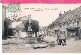 90 : GIROMAGNY , Fontaine Louis XIV Et Grande Rue - Giromagny