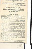 ( B11) ° KASTERLEE  1874 + O.L.VR WAVER 1940 ANNA DE WILDE = ZR.MARIE CELESTINE - Images Religieuses