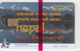 NEPAL -  Nelap Lake, Nepal Telecom Telecard, First Issue R$ 500, Mint - Nepal