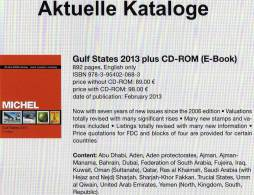 Michel Part 10 Stamps Gulf-States VAE Katalog 2013 With CD-ROM New 98€ Arabia Countrys In English Catalogue Of Germany - Temas