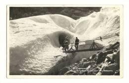Cp, 74, Chamonix, La Grotte Du Glacier Des Bassons - Chamonix-Mont-Blanc