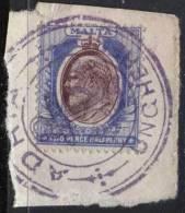 "FIUME - RIJEKA - SHIPS - CAPT. PETARDY - SMS  ""ADRIA"" UNGARESE On Malta Stamps - Cc 1905 - RARE - 8. WW I Occupation"