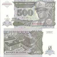 Zaire P-64, 500 Nouveaux Zaires,  Mobutu, Leopard  / Banque Du Zaire $4+CV - Zaïre
