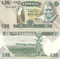 Zambia P-27e, 20 Kwacha, Eagle / Woman With Basket On Head $9CV - Zambie