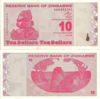 Zimbabwe P-94, 10  Dollars, Chiremba Balancing Rock / Great Zimbabwe Ruins $2+CV - Simbabwe