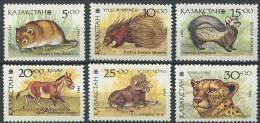 102 KAZAKHSTAN 1993 - Animaux Divers - Neuf Sans Charniere (Yvert 20/25) - Kazakhstan