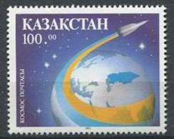 102 KAZAKHSTAN 1993 - Espace Terre Et Fusee Postale - Neuf Sans Charniere (Yvert 12) - Kazakhstan