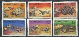 102 KAZAKHSTAN 1995 - ReptilesTortue Serpent - Neuf Sans Charniere (Yvert 53/58) - Kazakhstan