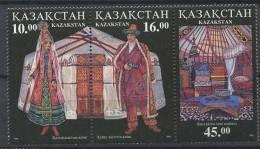 102 KAZAKHSTAN 1996 - Artisanat Costume - Neuf Sans Charniere (Yvert 118/20) - Kazakhstan