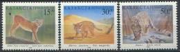 102 KAZAKHSTAN 1998 - Felin Lynx Chat Once - Neuf Sans Charniere (Yvert 186/88) - Kazakhstan