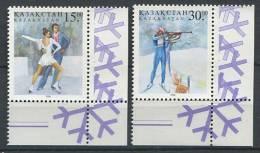 102 KAZAKHSTAN 1998 - JO Hiver Nagano (Japon) Patinage - Neuf Sans Charniere (Yvert 170/71) - Kazakhstan