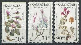 102 KAZAKHSTAN 1999 - Fleur Blumen Flower - Neuf Sans Charniere (Yvert 216/18) - Kazakhstan
